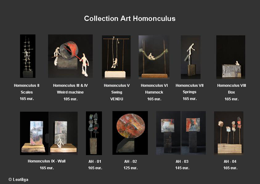 Collection Art Homonculus