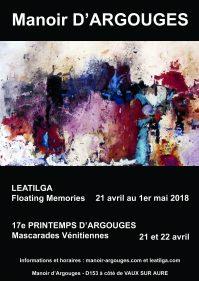 Exposition FLOATING MEMORIES - Manoir d'Argouges 2018